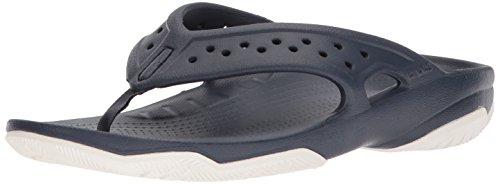 Crocs Swiftwater Deck Flip Men, Herren Zehentrenner, Blau (Navy/white), 45/46 EU -