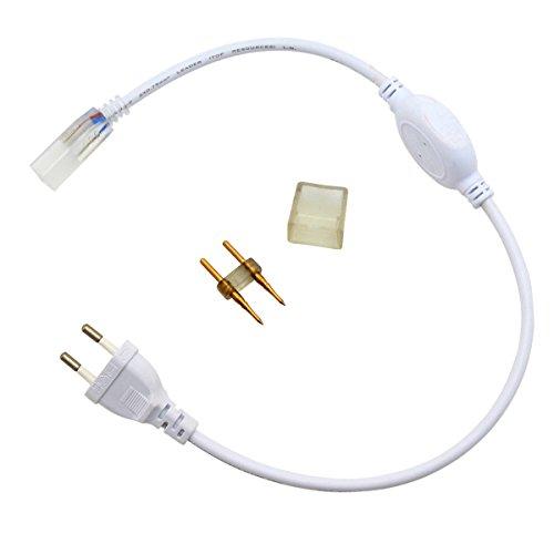 GreenSun Netzteil Trafo Netzstecker für 5050 LED Strip Streifen Band Leiste Lichterkette Schlauch 220-240V LED Lichtschlauch Zubehör für Lichterschlauch EU Stecker