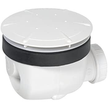 Wirquin 34040101 Twisto Bonde de douche à débit rapide Diamètre 90 Blanc