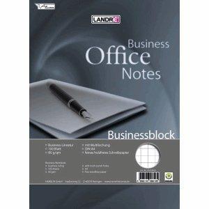 5 x Landre Collegeblock Business A4+ 100 Blatt 80 g/qm kariert 10 mm