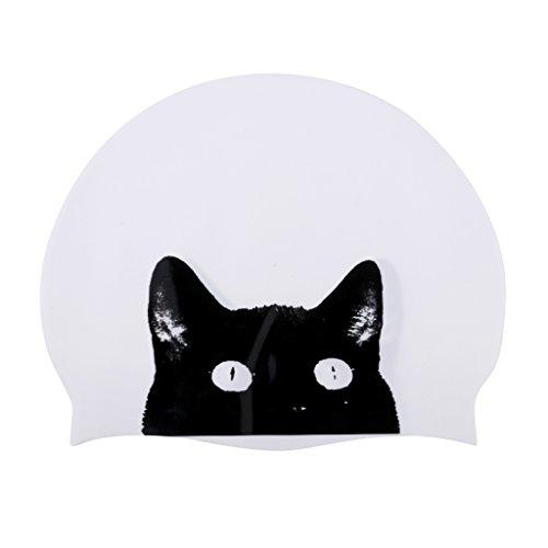 MagiDeal Cuffia da nuoto per adulti in silicone, robusta e impermeabile, collezione Pet-modelli Cat Collins/Cathead/Blue Dog a scelta, Cathead