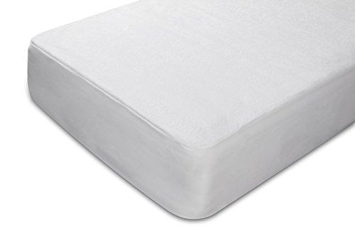 Pikolin Home - Protector de colchón, tejido rizo, algodón, impermeable y transpirable, antiácaros, 150 x 190/200 cm, cama 150 (Todas las medidas)
