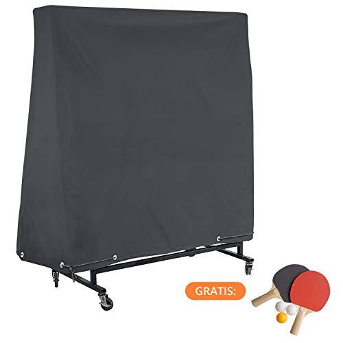 smartpeas Telo per Tavolo Ping Pong da Esterno – con Extra Rivestimento PVC & Cuciture Nastrate – Impermeabile, Resistente ai Raggi UV & Anti Intemperie – 185 * 165 * 70 cm
