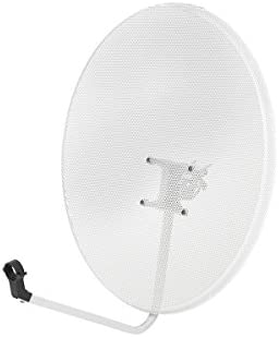 Diesl.com - Antena parabólica perforada 80cm offset | Acero inoxidable | Absorción inmediata del aire | Ideal para zonas con condiciones meteorológicas adversas.