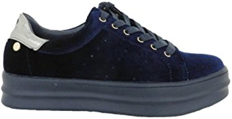 Xti - Zapatilla Terciopelo Azul Marino  Venta de calzado deportivo de moda en línea