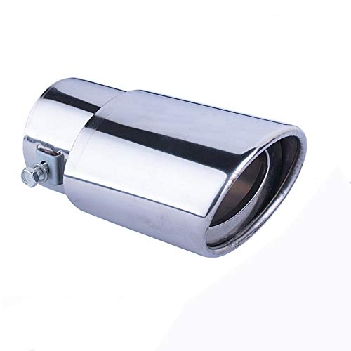 Edelstahl Auto Auspuff Endrohr Schalldämpfer Endrohr Gerade oder gebogene Endrohr Fit Rohre Rohr-Fit Rohr Durchmesser 1,5 bis 2,3 Zoll (3,8-5,8 cm) ()