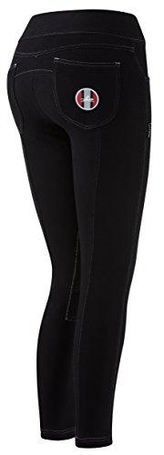 EQUITHEME Pantalon Pull-on - femme - Couleurs - Noir, Taille Française - 36