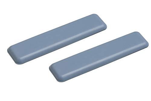 Metafranc Easyglider 25 x 100 mm - selbstklebend - 2 Stück - PTFE Gleitoberfläche - Für ein leichtes Verschieben schwerer Möbel / Universales Möbelgleiter-Set / Teflongleiter / Bodengleiter / 645786 - Fuß-glider