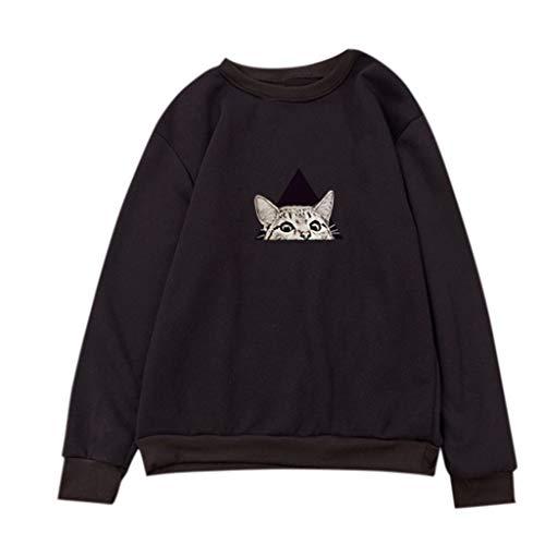 friendGG Damen Pullover Bluse T Shirt Winter Casual Loose Strick Sweater Top Outwear Langarmshrit Strickpullover Strickpulli O-Ausschnitt Langarm Locker Jacke Oberteile Tops Sweatshirt Hoodie