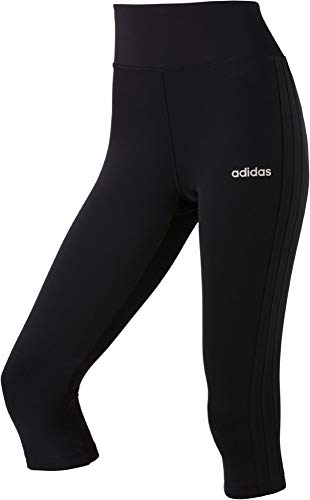 Adidas Tennis Strumpfhosen (adidas Damen W D2M 3S 34 TIG Tights, Black/White, M)