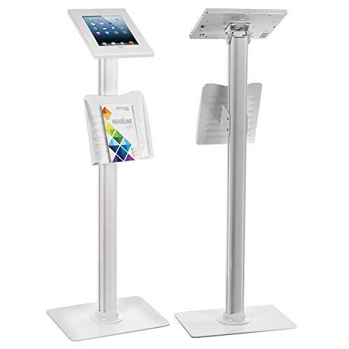Maclean mc 724supporto da tavolo universale per tablet supporto da pavimento prospetto titolare tablet station, titolare con fermo per ipad 2, ipad 3, ipad 4, ipad air; antifurto