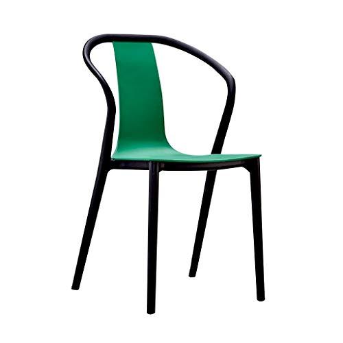 LXQGR Esszimmerstuhl Garten esszimmer Set, einfache Lounge Stuhl Cafe Restaurant tür Shop esstisch Stuhl hocker bar Stuhl Stuhl Home Dining Stuhl modernen minimalistischen (Color : Green)