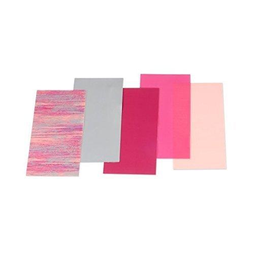 """Wachsplatten/Verzierwachs Sortiment""""Rosa gemustert (Mischung)"""" (5 Bögen / 175 x 80 x 0,5 mm) TOP QUALITÄT"""