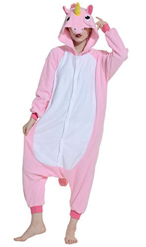 DATO-Ropa-de-Dormir-Pijama-Unicornio-Rosa-Cosplay-Disfraz-Animal-Unisexo-Adulto
