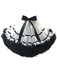Mini-Petticoat TUTU WEISS/SCHWARZ Gr. S/M