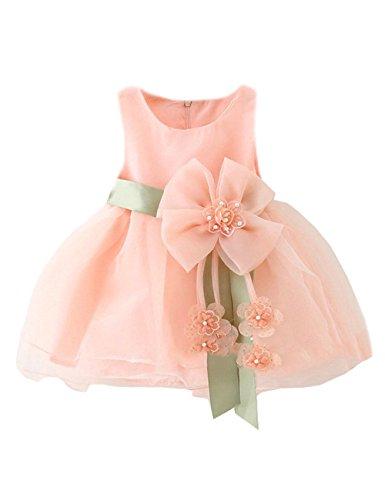Little Sorrel Kinder Kleid Mädchen Weihnachten Karneval Tüll Schleife Party Kleider 6-36 Monate (M(12-18months), (Für Kleid Babys Frozen)