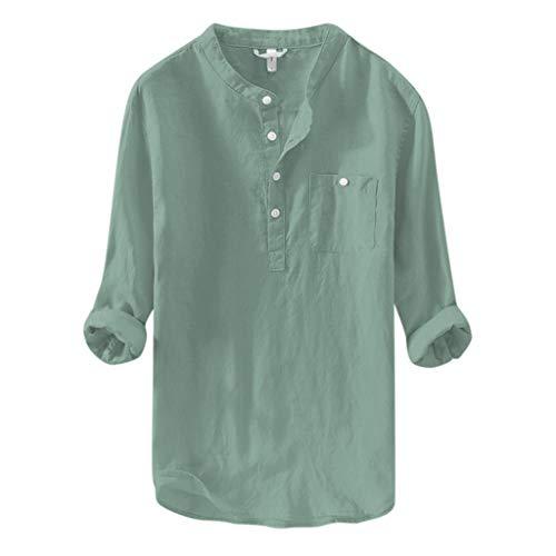 Chemises Grande-Taille Couleur Unie Mode T-Shirts À Manches Longue Décontracté D'Été Casual Mince Tops L