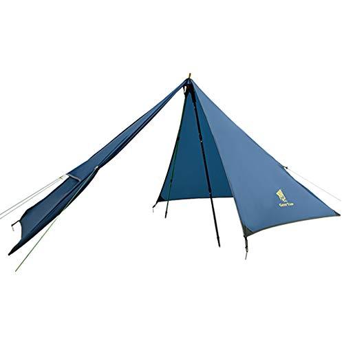 GEERTOP Außenzelt Kuppelzelt Zelt Minipack 20D Ultralight - 210 x 90 x 105 cm (790g) -1 Personen 3 Saison für Camping Wandern Klettern (nicht im Lieferumfang enthalten) (Eisenblau, Außenzelt) -