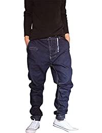 36120f49c5 Hip Hop Estilo Hipster De Hombres Pantalones Vaqueros Los Rap Ropa De  Mezclilla Pantalones Harén Streetwear