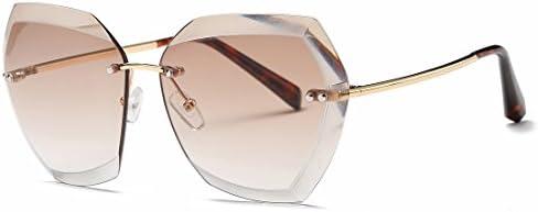 Kimorn Sunglasses For Women Oversized Rimless Diamond Cutting Lens Classic Eyewear AE0534