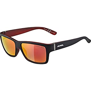 Alpina Sonnenbrille Sport Style KACEY Black matt-red, One Size