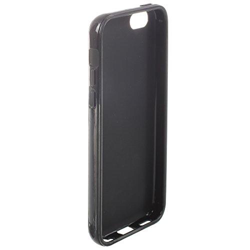 TPU Case fuer iPhone 5C - SODIAL(R) TPU Gummi Case Kompatibel mit Apple iPhone 5C - Schwarz schwarz