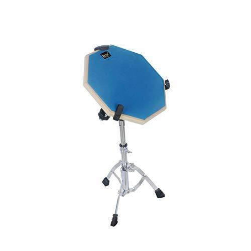 Delicacydex 12-Zoll-Drum-Übungsmatte Hit Board-Übungsdämpfer für Anfänger Ruhiges Training Drum Pad - Blau