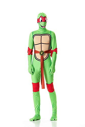POIUYT Ninja Turtles Kostüm Cosplay Anime Game Movie Performance Kostüm Halloween/Weihnachten Kostüm Ball Grün M-XL,Red-M