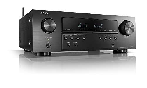 Denon AVR-S650H 5.2-Kanal AV-Receiver, Hifi Verstärker, Alexa Kompatibel, 5 HDMI Eingänge, Bluetooth und WLAN, Musikstreaming, Dolby True HD und Vision, AirPlay 2, HEOS Multiroom