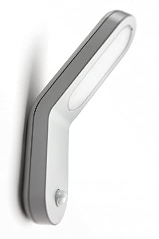 Philips Ecomoods Seabreeze Outdoor Wall Light Grey (Includes 1 x 11 Watts 2G7 Bulb, with PIR Motion Sensor)