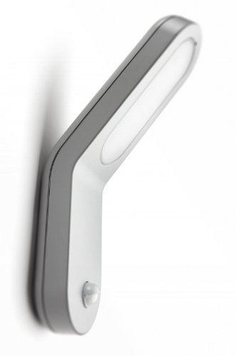 Philips Ecomoods IR-Energiespar-Wandaussenleuchte Vorschaltgerät in der Leuchte integriert, Bewegungsmelder Typ J (Erfassungswinkel 140°, Reichweite 6 m) 169098716
