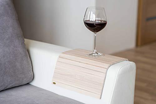 Bar Aus Holz Armlehne (Armlehnenschoner aus Holz, Sofa-Ablage, Untersetzer, Sofa-Tablett Farbe 1)