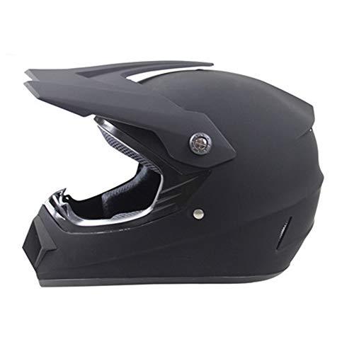 Exklusive Anpassung Vier Jahreszeiten Cross Country Helm Motocross Helm Mountainbike Vollhelm Mehrfarbenhelm Cross Country Helm Road Offroad Rennhelm - Mattschwarz -...