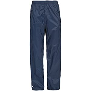 Trespass Packup Trouser, Navy, XXS, Compact Packaway Waterproof Trousers with 3 Pocket Openings Adult Unisex, XX-Small / 2X-Small / 2XS, Blue