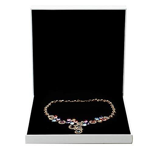 Preisvergleich Produktbild Oirlv weiß-Papier Jewelry Verpackung Box Aufbewahrungsbox Hochzeit Ring Schmuck Box