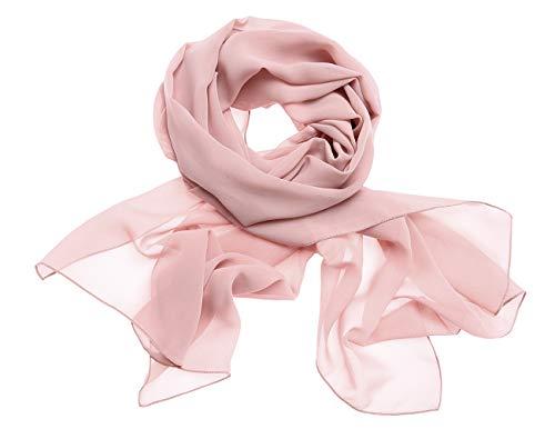 Dresstells Chiffon Schal Stola für Abendkleider in Verschiedenen Farben Blush 190cmX70cm/ Medium -