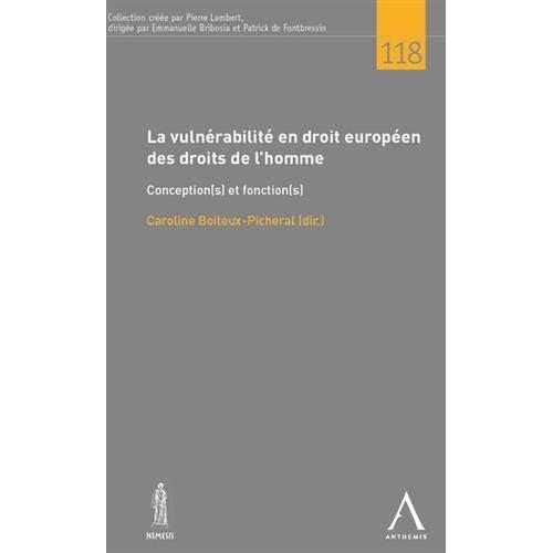 La vulnerabilité en droit européen des droits de l'homme. Conception(s) et fonction(s)