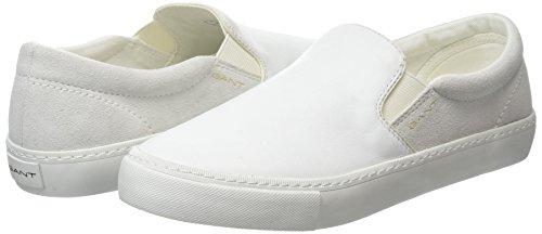Gant Alice, Mocassins femme Blanc - Weiß (white G29)