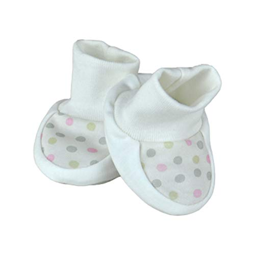 For Babies - Bio-Baumwolle Erstlingsschuhe Babyschuhe Babysocken für Mädchen und Jungen - 100% organic cotton - Made in EU (Rosa mix Bällchen)