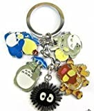 My neighbor totoro Cat bus Black dust Key Chain