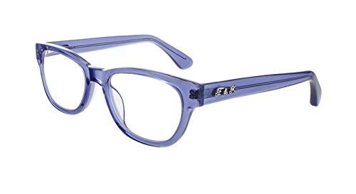 Edison & King Lesebrille - Moderne Acetat Kunststoffbrille mit Entspiegelung und Härtung Stärken (Blau-Transparent, 2,50 dpt)