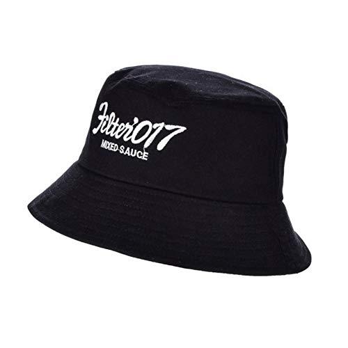 ENGXING Brief Gedruckt Eimer Hut Für Männer Frauen Hip Hop Fischer Hut Erwachsene Panama Bob Hut Sommer Liebhaber Flachen Hut Weiß Schwarz Rosa (Frauen Schwarzen Und Weißen Hut)