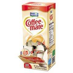 Coffee-Mate, REGULAR Flavor Liquid Creamer, 0.38oz Packs, 50 Packs Per
