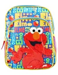 "12"" Sesame Street Elmo Letters Toddler Backpack By Fast Forward"