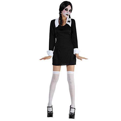 B-Creative Creepy Schule Mädchen Damen Fancy Kleid Mittwoch -