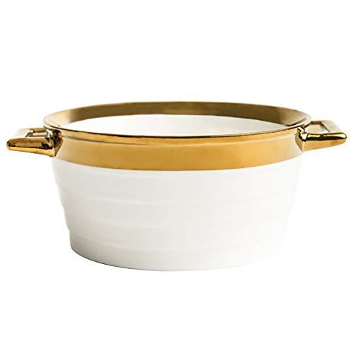 ssel Salatschüssel Keramikschüssel Rührschüssel Anti-Verbrühungsschale Stilvolle Schüssel Große Kapazität Schüssel Wesentliches Geschirr Geschenk An einen Freund ()