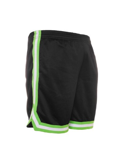 Urban Classics TB243 Herren Shorts Stripes Mesh black-rasta