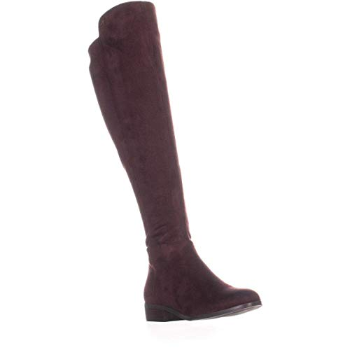 Michael Michael Kors Women's Knee High Bromley Riding Boots in Damson Burgundy