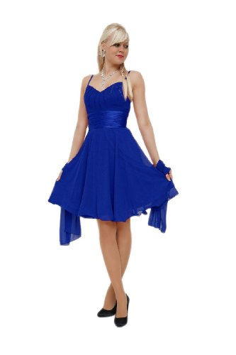 Young-Fashion -  Vestito  - Sera  - Basic - Senza maniche  - Donna Blu Royal