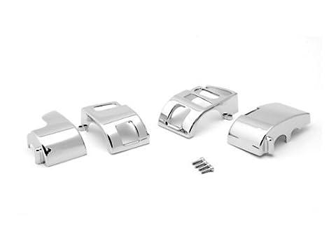 Krator Yamaha V-Star 1100 Classic/Silverado Chrome Handlebar Switch Housings Cover